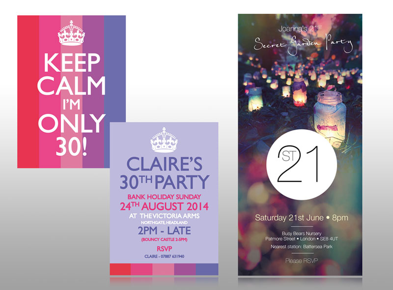 birthday invite for 21st 30th party