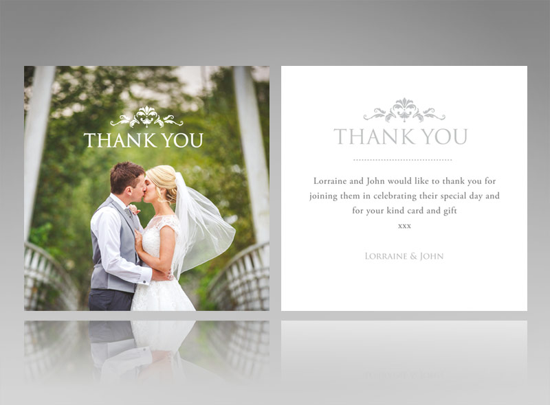 Thank You Cards Invitations Wedding Baby Christening