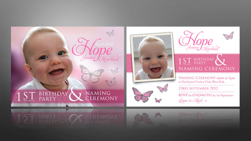 Naming Ceremony Invite Christening Baby First Birthday