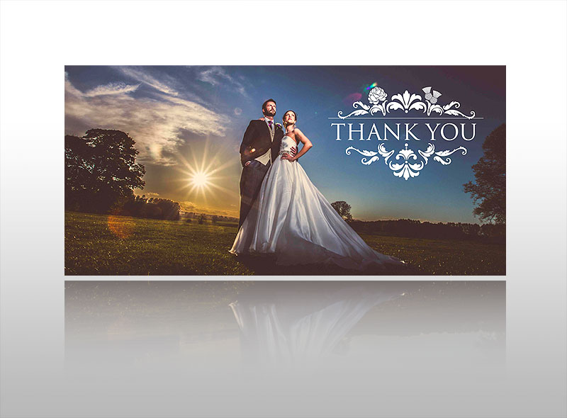 Wedding Thank You Card Stylish Best