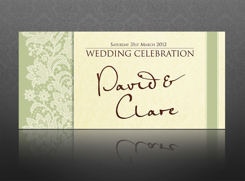 card designs were created to celebrate the stylish Italian wedding of