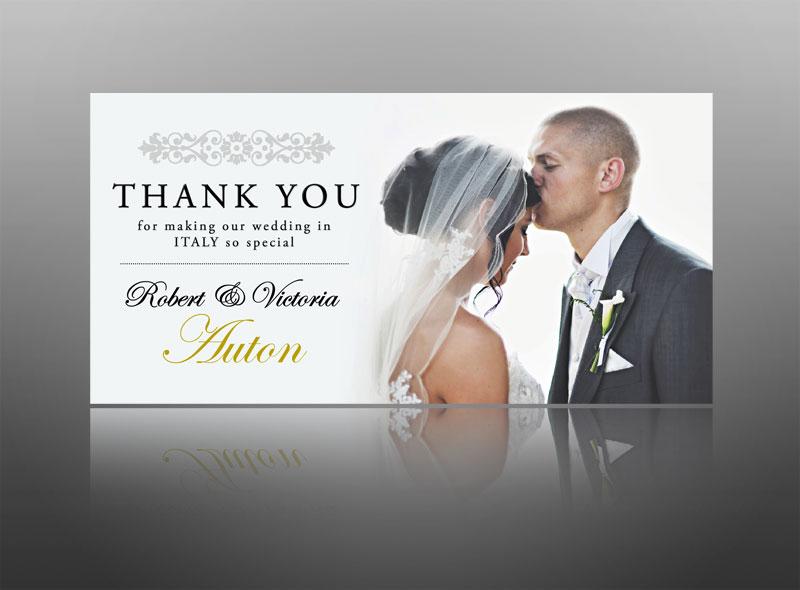 Wedding Thank You Card Stylish