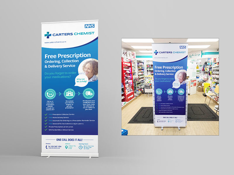 Pharmacy leaflet layout design ideas flyer chemist NHs prescription flyer example