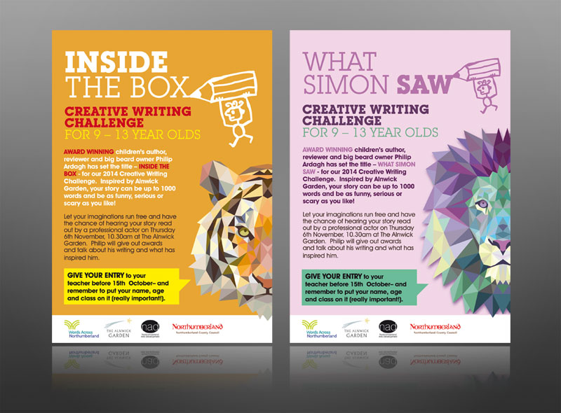creative-writing-book-club-kids-alnwick-leaflet-design best flyer design