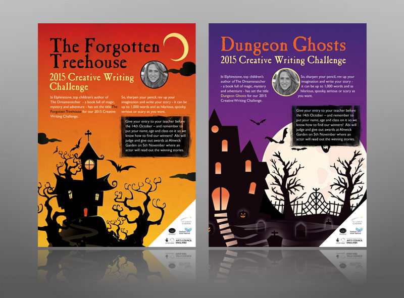 Fun leaflet school children ghosts haunted house