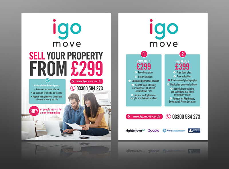 Estate agents leaflet modern flyer design graphic simple best