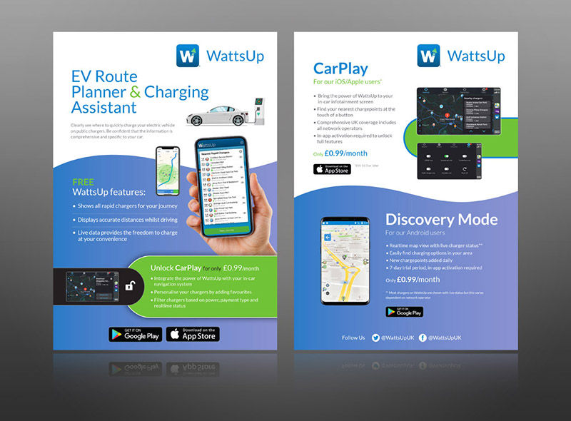 EV charging leaflet electric vehicle ideas charging design brochure