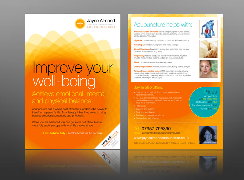 My modern acupuncture leaflet design
