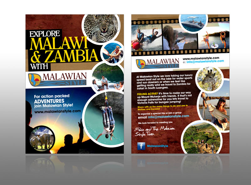 Travel adventure leaflet - Malawian Style
