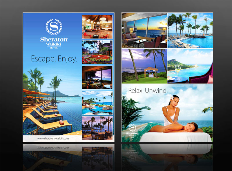 hotel and spa leaflet design, keswick, windermere
