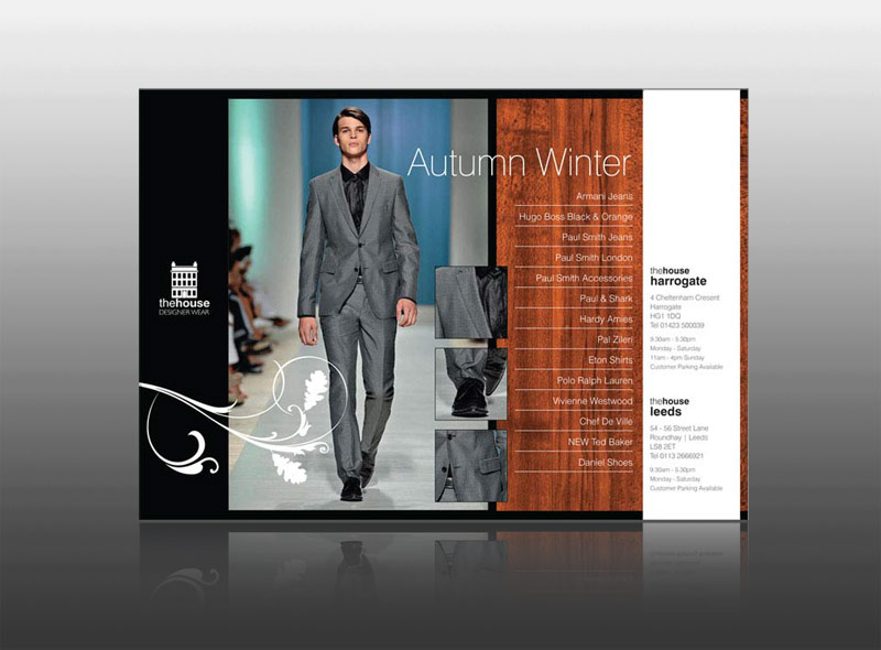 high quality fashion, boutique, leaflet design & print in harrogate, yarm, keswick, ambleside, windermere, lake district, cumbria best flyer design