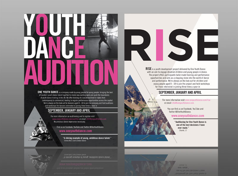 creative best flyer designleaflet design for one youth dance with a classy, contemporary urban style