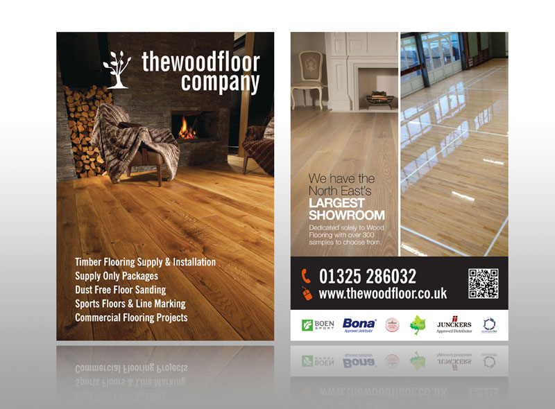 classy minimalist leaflet design for wood flooring company best flyer design